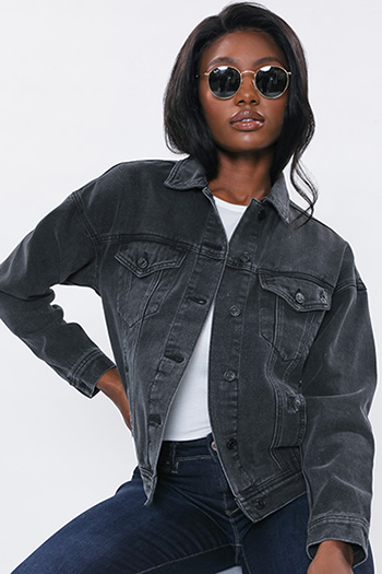 Junior Oversized Boyfriend Denim Jacket