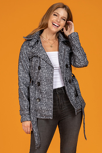 Ready For Fall Junior Printed Fleece Jacket With Detachable Hood