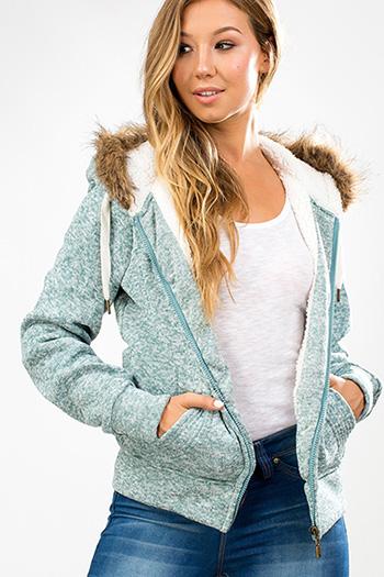 Junior Faux Fur Sweater Hoodie