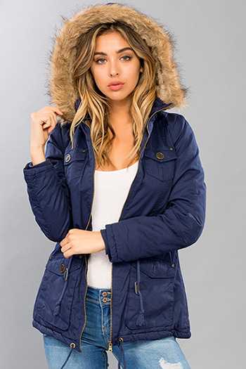 Junior Faux Fur Hood Parka Jacket