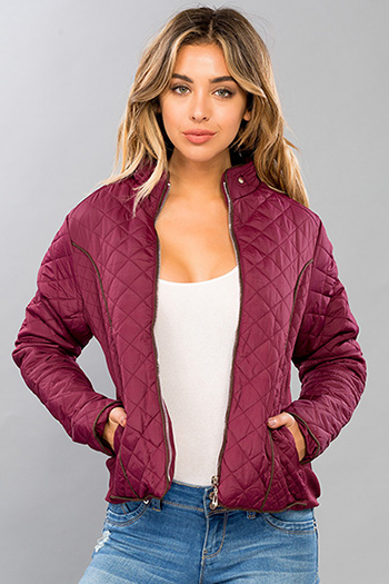 Junior Quilted Faux Fur Lined Jacket