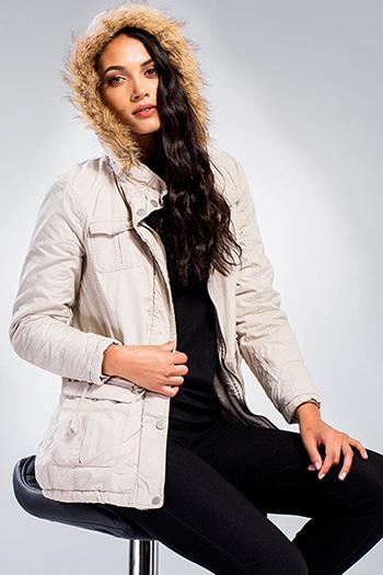 Junior Faux Fur Trimmed Hood Utility Jacket