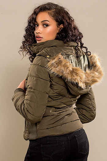 Junior Parka with Fur Trim Hood