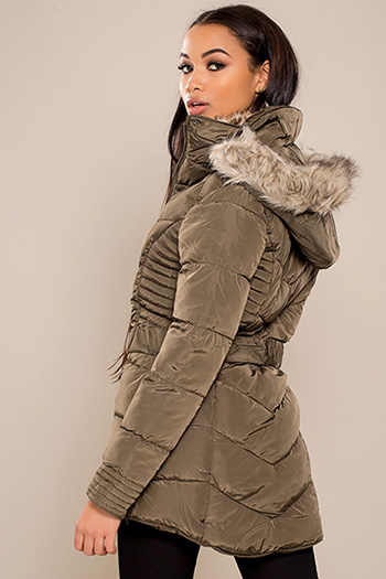 Junior Long Parka with Fur Trim Hood