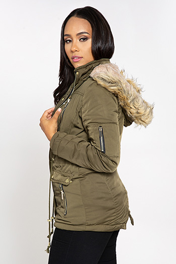 Junior Parka with Faux Fur Hood