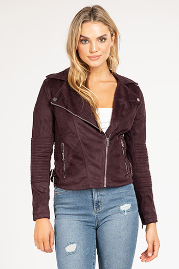 Junior Faux Suede Biker Jacket