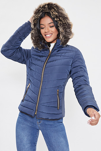 Junior Jacket With Optional Faux Fur-Trimmed Hood