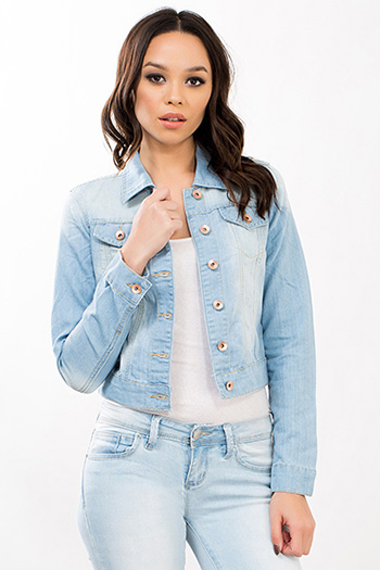 Junior Basic Cropped Denim Jacket
