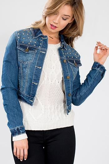 Junior Studded Denim Jacket