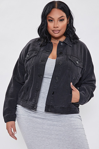 Junior Plus Size Oversized Boyfriend Jacket