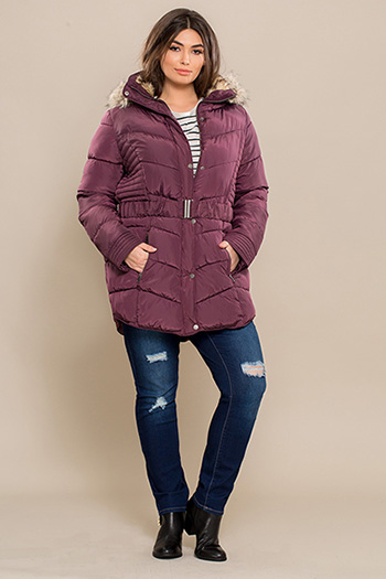 Junior Plus Size Long Parka