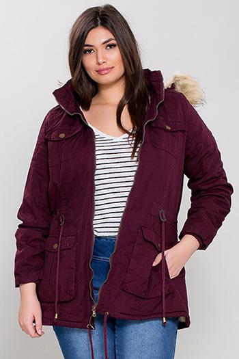 Junior Plus Cotton Jacket with Detachable Hood