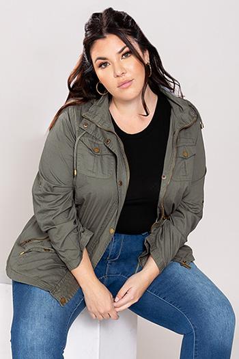 Junior Plus Size Cotton Jacket