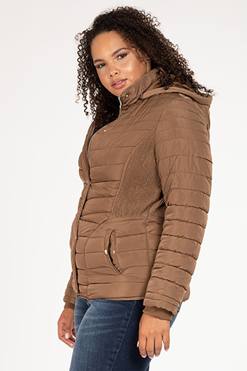 Junior Plus Jacket With Detachable Hoodie