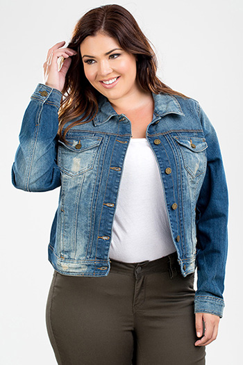 Junior Plus Size Denim Jacket