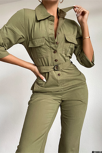 Junior Secrets Button-Up Jumpsuit