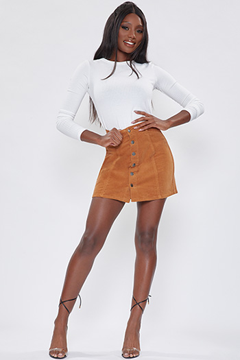 Junior A-Line Corduroy Mini Skirt