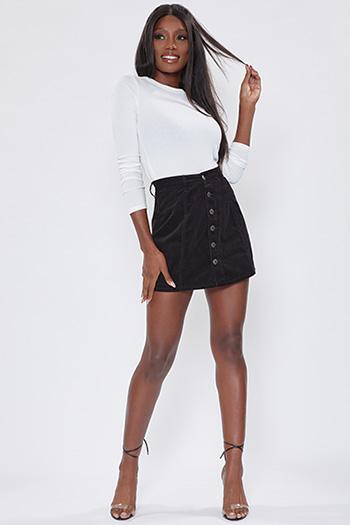 Junior A-Line Corduroy Mini Skirt