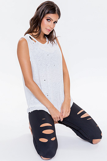 Junior Distressed and Speckled Boyfriend Tank