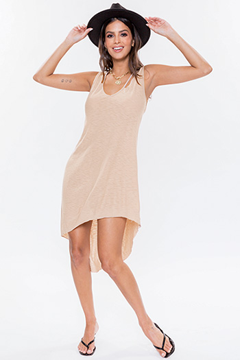 Junior Distressed Collar Dress With Asymmetrical Hem