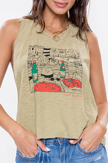 "Junior ""Pizza In Naples"" Graphic Tank"