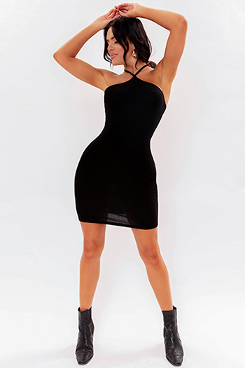 Junior Bodycon Dress With Diamond Strap Neck