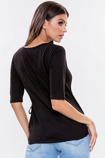 Junior Wrap Top With Side Tie