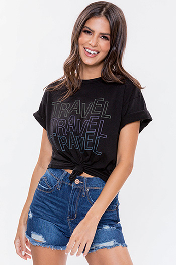 """Junior """"Travel"""" Graphic Tee"""