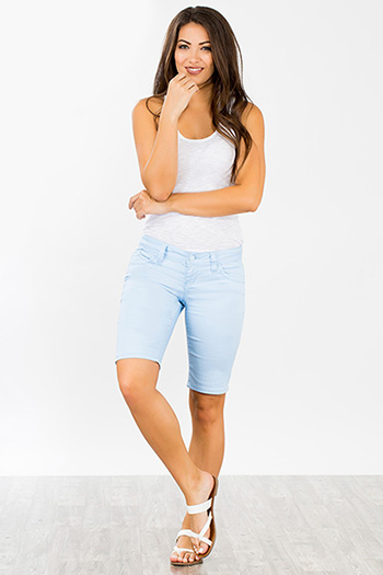 Junior WannaBettaButt Twill Bermuda Shorts