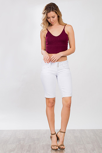Junior WannaBettaButt 3-Button Bermuda Shorts