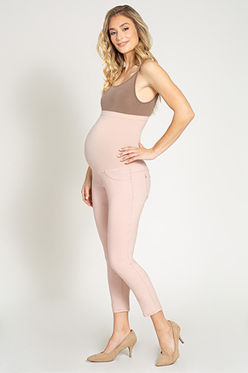 Maternity Hyperstretch Overbelly Ankle Jean