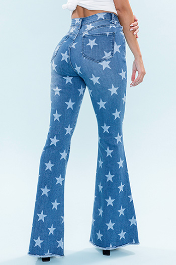 Junior Americana Printed Star Flare Jean