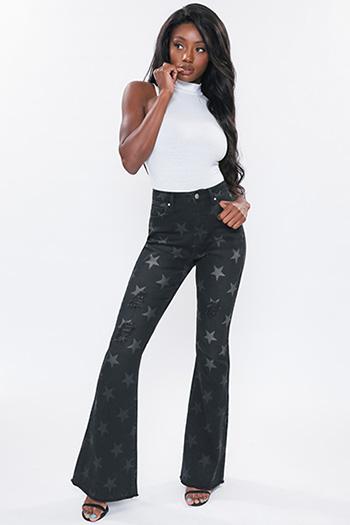 Junior Americana Printed Star Flare Jean