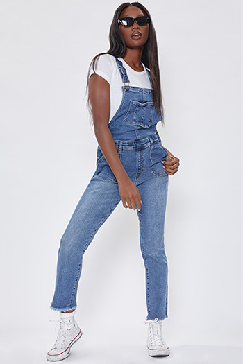 Junior Vintage Dream Overalls With Frayed Hem