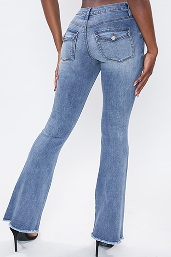 Junior Low-Rise Flare Jean With Flap Back Pocket