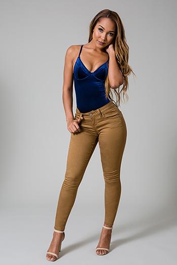 Junior WannaBettaButt Twill Skinny Jean