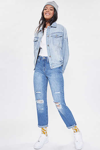 Junior Hybrid Dream Easy Fit Boyfriend Jean With Rolled Cuffed Ankle