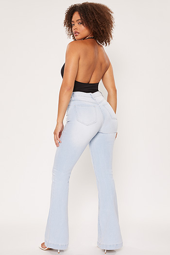 Junior High-Rise Flare Jean With Exposed Buttons