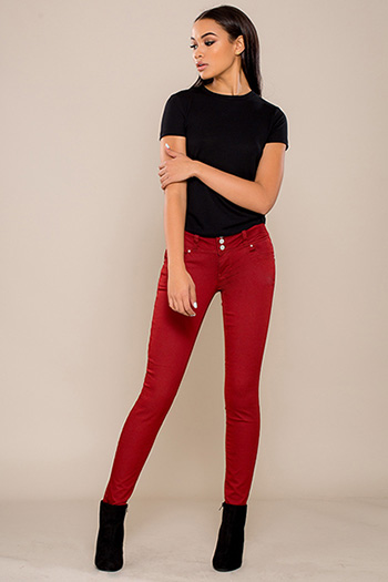 Junior WannaBettaButt 3-Button Twill Skinny