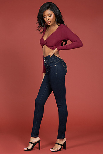Junior WannaBettaButt High-Waist Skinny Pant