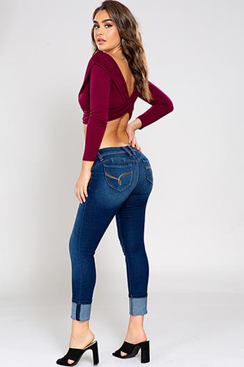 Junior WannaBettaButt Mega Cuffed Skinny Jean
