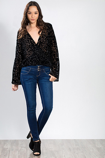 Junior Slim-Hers Triple-Button Skinny Jean
