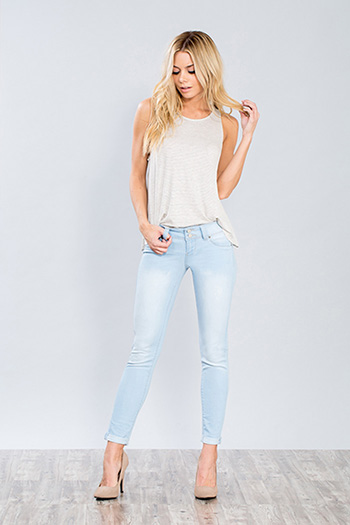 Junior WannaBettaButt 2-Button Anklet Jegging