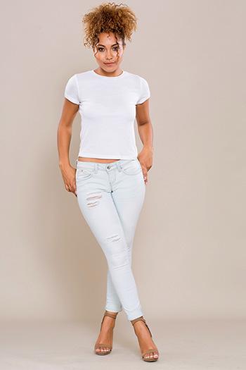Junior WannaBettaButt Roll-Up Skinny Jean