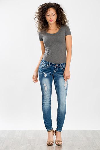 Junior WannaBettaButt Heavy Stitch Skinny Jean