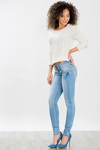 Junior Triple Button Skinny Jean