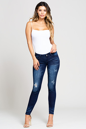 Junior Luxe Distressed Skinny Jean