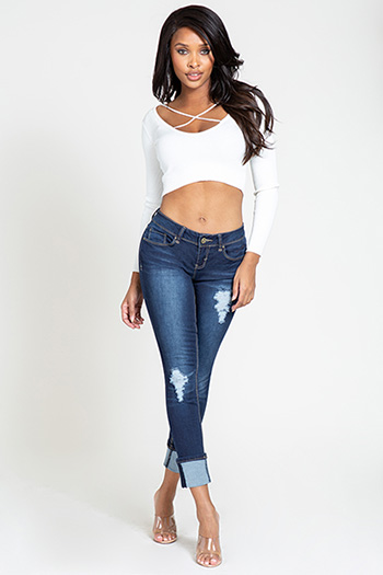 Junior Luxe Mega Cuffed Ankle Jean