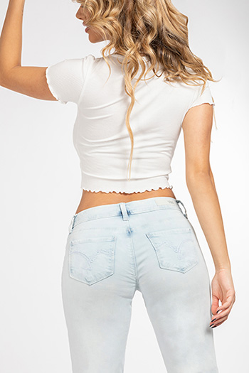 Junior Luxe Cuffed Ankle Jeans