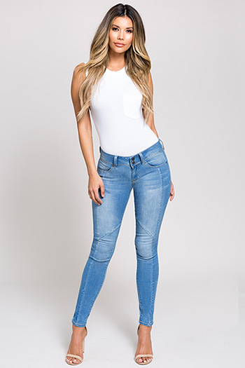 Junior Hyperflex 2-Button Skinny Jeans
